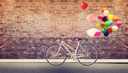 balloons and bike_shutterstock_227690770